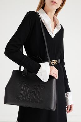 Черная сумка из кожи Max Mara 1947156440