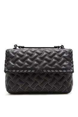 Черная кожаная сумка с заклепками Bottega Veneta 1669156436