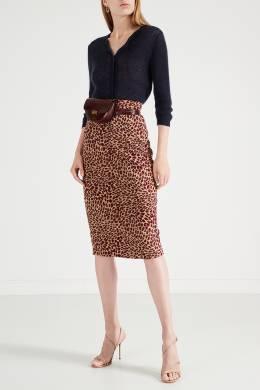 Бежевая юбка с леопардовым принтом Max Mara 1947156369