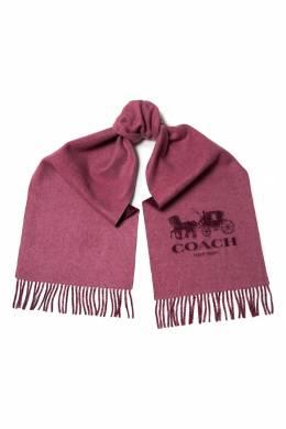 Бордовый кашемировый шарф с логотипом Coach 2219156562
