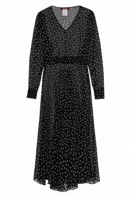 Черное мини-платье с принтом Max Mara 1947156419