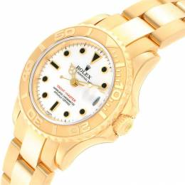 Rolex White 18K Yellow Gold Yachtmaster 169628 Women's Wristwatch 29MM 232132