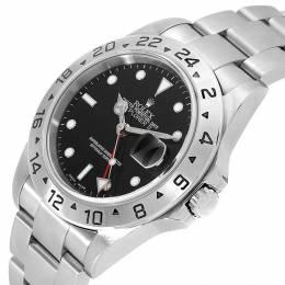 Rolex Black Stainless Steel Explorer II 16570 Men's Wristwatch 40 MM 231111