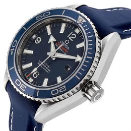 Omega Blue Stainless Steel Seamaster Planet Ocean 37.50 Watch 232.92.38.20.03.001 Men's Wristwatch 37.5 MM