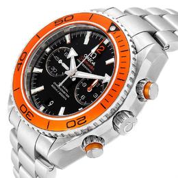 Omega Black Stainless Steel Seamaster Planet Ocean Chrono 600M 32.30.46.51.01.002 Men's Wristwatch 45.5 MM 231849