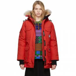 Canada Goose Red Down Expedition Parka 192014F06101403GB