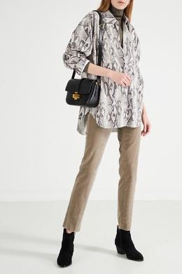 Вельветовые брюки цвета хаки Max Mara 1947156876