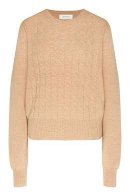 Бежевый свитер с длинными рукавами Max Mara 1947156857