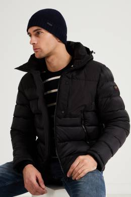 Темно-синяя шерстяная шапка Boss 1166156583