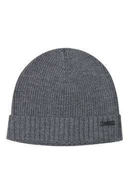 Серая шерстяная шапка Boss 1166156580