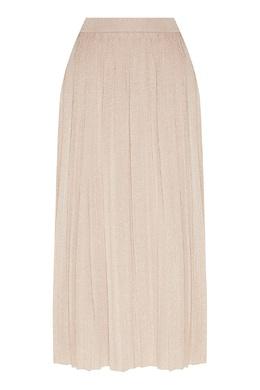 Бежевая миди-юбка с блеском Max Mara 1947156653