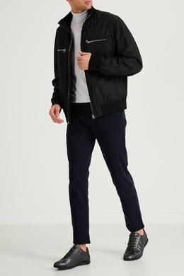 Серые кожаные кроссовки Boss 1166156726
