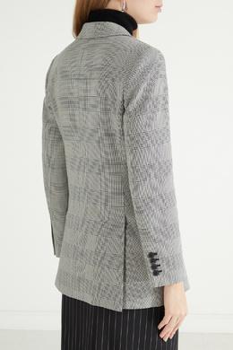Серый пиджак в клетку принц Уэльский Max Mara 1947156619