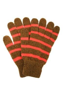 Коричневые перчатки в полоску Paul Smith 1924156763