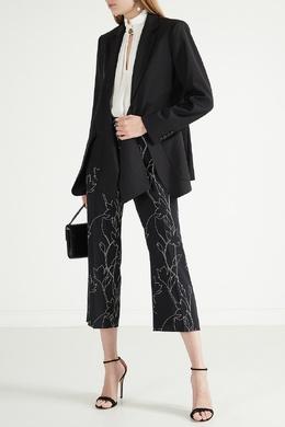 Черные брюки с цветочным принтом Max Mara 1947156826