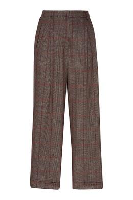 Широкие брюки в клетку Max Mara 1947156820