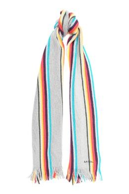 Серый шарф с полосками Paul Smith 1924156821