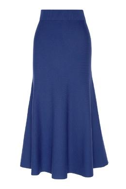 Синяя миди-юбка с широким поясом Max Mara 1947156823