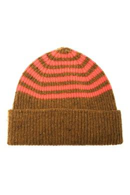 Коричневая шапка в полоску Paul Smith 1924156758