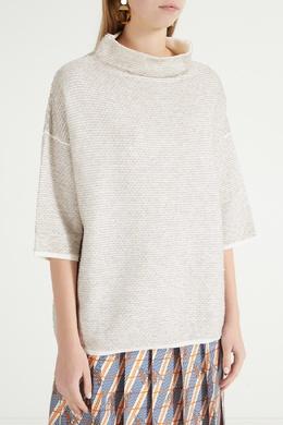Серый свитер фактурной вязки Max Mara 1947156855
