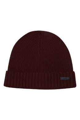 Бордовая шерстяная шапка Boss by Hugo Boss 1166156573