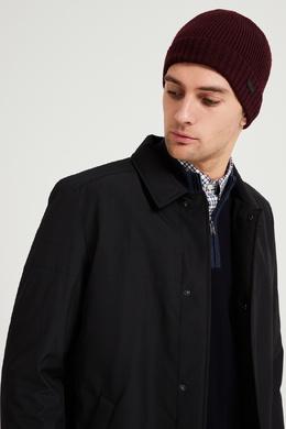 Бордовая шерстяная шапка Boss 1166156573
