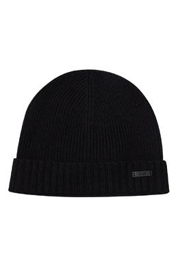Черная шерстяная шапка Boss 1166156576
