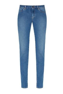 Голубые джинсы с потертостями Boss 1166156795