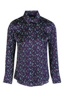 Фиолетовая блузка с принтом Paul Smith 1924156792