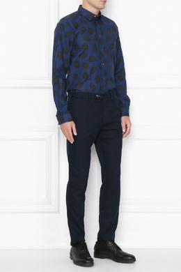 Синяя рубашка с принтом черепах Paul Smith 1924156781