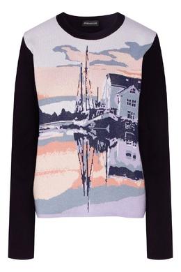 Черный свитер с пейзажным мотивом Max Mara 1947156842