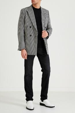 Темно-серые джинсы с потертостями Hugo Boss 622156685