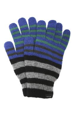 Шерстяные перчатки в полоску Paul Smith 1924156934