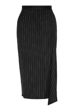 Черная юбка в полоску Max Mara 1947156645
