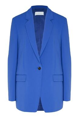 Синий однобортный пиджак Boss 1166156907