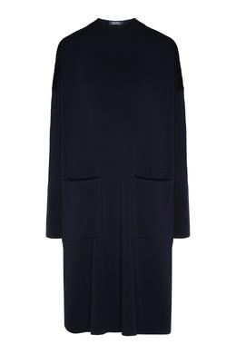 Темно-синее платье прямого кроя Max Mara 1947156648