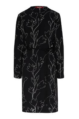 Черное платье с цветочным принтом Max Mara 1947156646