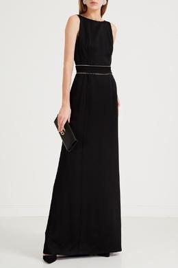 Черное макси-платье с глубоким вырезом Max Mara 1947156647