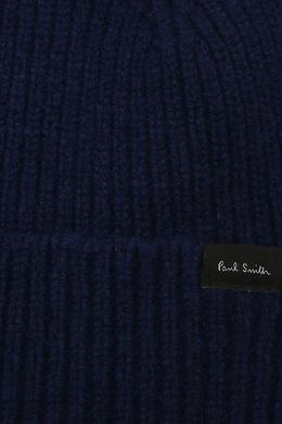 Синяя шапка с помпоном Paul Smith 1924156788