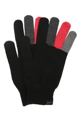 Черные перчатки с цветными вставками Paul Smith 1924156800