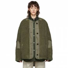 Isabel Marant Etoile Green Faux-Fur Padded Demma Coat 192599F05900203GB