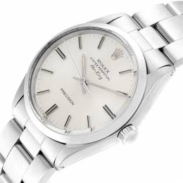 Rolex Silver and Stainless Steel Air King 5500 Men's Wristwatch 34MM 232810