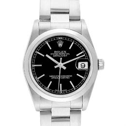 Rolex Black and Stainless Steel Datejust 78240 Women's Wristwatch 31MM 232830