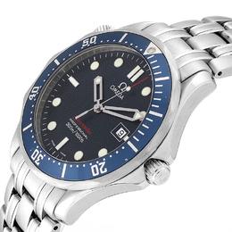 Omega Blue Stainless Steel Seamaster Bond 300M 2221.80.00 Men's Wriswatch 41 MM 232687