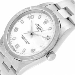 Rolex White and Stainless Steel Date 15210 Men's Wristwatch 34MM 232822