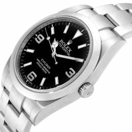 Rolex Black and Stainless Steel Explorer I 214270 Men's Wristwatch 39MM 232882