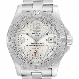 Breitling White Stainless Steel Aeromarine Superocean A17390 Men's Wriswatch 44 MM 232652