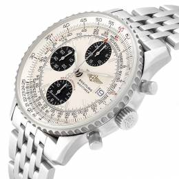 Breitling White Stainless Steel Navitimer A13330 Men's Wriswatch 41.5 MM 232657