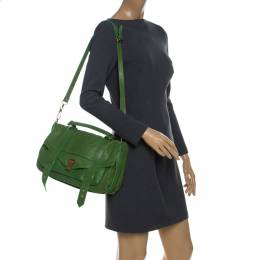 Proenza Schouler Emerald Leather Large PS1 Top Handle Bag