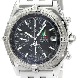 Breitling Black Stainless Steel Chronomat Frecce Tricolori A13050.1 Men's Wristwatch 40MM 229564